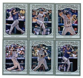 2013 Colorado Rockies Topps GYPSY QUEEN Baseball Complete Mint 6 Basic Card Team Set; It Was Never Issued in Factory Form. Cards Included Are #39 Dexter Fowler, #74 Josh Rutledge, #102 Tyler Colvin, #191 Jordan Pacheco, #273 Carlos Gonzalez and #325 Wilin