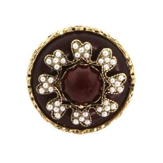 NEXTE Jewelry Antique Goldtone and Acrylic Dowry Fashion Ring NEXTE Jewelry More Rings