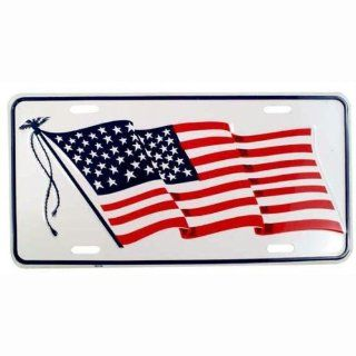 American Flag   License Plate Patriotic Americana