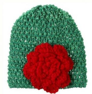 Merry Christmas Newborn Knit Hat Green & Red Ganz Holiday Season Baby Cap: Clothing