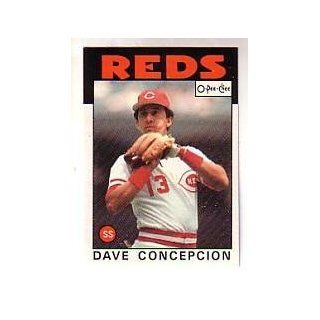 1986 O Pee Chee #195 Dave Concepcion: Sports Collectibles