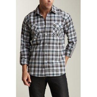 "191 Unlimited ""Hubert"" Slim Fit Plaid Shirt (X Large): Clothing"