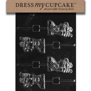Dress My Cupcake DMCC191 Chocolate Candy Mold, Stuffed Stocking Lollipop, Christmas: Kitchen & Dining