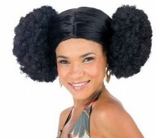 Sexy Black Afro Poof 70's Foxy Lady Disco Halloween Wig Accessory #190529BK   Seasonal Decor