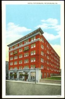 Hotel Petersburg Petersburg VA postcard 192?: Collectibles & Fine Art
