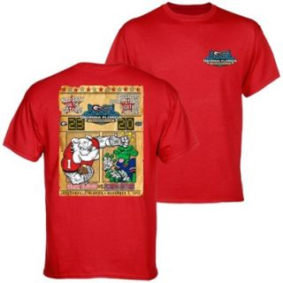 Georgia Bulldogs vs. Florida Gators 2013 Score T Shirt   Red