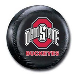 BSS   Ohio State Buckeyes NCAA Spare Tire Cover (Large) (Black): Everything Else