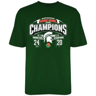 Michigan State Spartans 2014 Rose Bowl Champs T Shirt   Green
