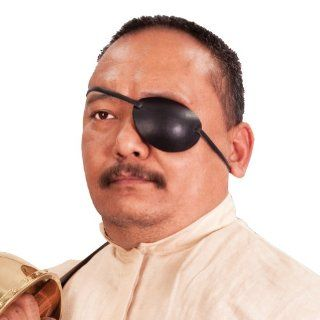 Leather Eye Patch   Left Eye   Pirate Costume Accessories: Toys & Games