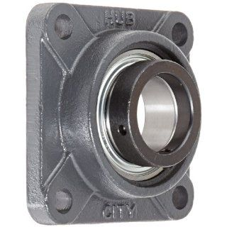 "Hub City FB220URX2S Flange Block Mounted Bearing, 4 Bolt, Normal Duty, Relube, Eccentric Locking Collar, Narrow Inner Race, Cast Iron Housing, 2"" Bore, 2.193"" Length Through Bore, 4.375"" Mounting Hole Spacing: Industrial & Scientific"