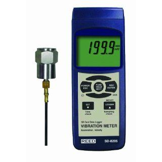 Reed SD 8205 Vibration Meter and Data Logger, 0.1 mm/s Resolution, +/ 5 Percent Accuracy, 0.5 to 199.9 mm/s Velocity Range: Industrial & Scientific