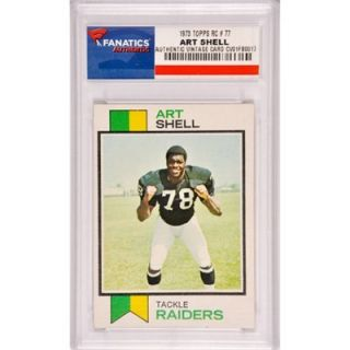 Art Shell Oakland Raiders 1973 Topps Rookie #77 Card