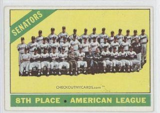 1966 Topps #194   Washington Senators TC: Everything Else