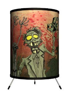 "Lamp In A Box TRI FAR CRTHE Featured Artists   Carlos Ramos ""The Dead Will Rise"" Tripod Lamp: Home Improvement"