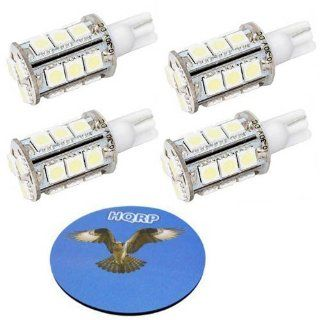 HQRP 4 pack T10 #194 #168 W5W Wedge Base 18 LEDs SMD LED Sidelight Side Marker Light Bulbs Warm White plus HQRP Coaster: Automotive