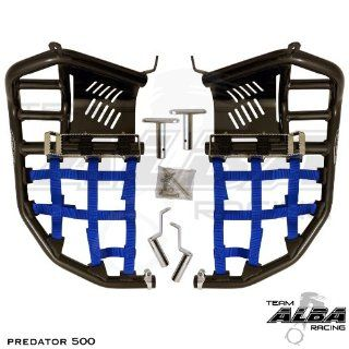 Polaris Predator 500 Propeg Nerf Bar Black / Blue: Automotive