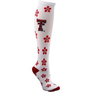 Texas Tech Red Raiders Ladies Petal Power Knee High Socks   White