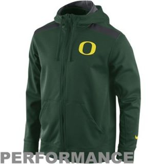 Nike Oregon Ducks Shield Nailhead Full Zip Performance Hoodie   Green