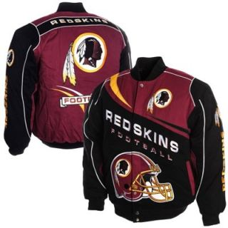 Washington Redskins Kick Off Twill Jacket   Burgundy/Black