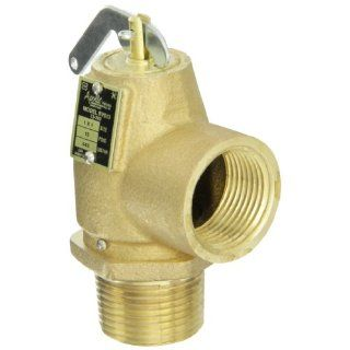 "Apollo Valve 13 202 Series Bronze Safety Relief Valve, ASME Steam, 15 psi Set Pressure, 1"" NPT Male x Female: Industrial & Scientific"