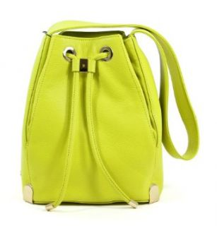 Vince Camuto Leather Sulphur Spring Janet Drawstring Shoulder Bag: Clothing
