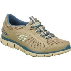 Women's Skechers Gratis Big Idea Brown/Blue Skechers Sneakers