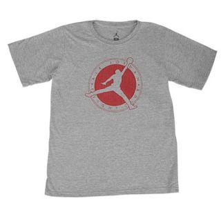 65336f37bcba ... Jordan Flight Club T Shirt Boys Grade School Basketball Clothing Dark  Grey Heather Gym Red ...