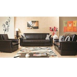 Queens Convertible Sofa Bed, Loveseat and Chair Set Sofas & Loveseats