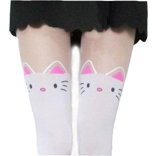 Lady Sexy Pantyhose Cute Cat Ear Pink Bowknot Over Knee Tights Leggings Socks: Toys & Games