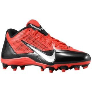 Nike Alpha Pro Low TD   Mens   Football   Shoes   Black/Metallic Silver/Challenge Red