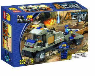 Fun Blocks 'Special Forces' Military Brick Set B 232 Pieces (J5612): Toys & Games
