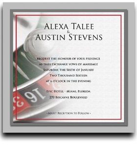 235 Square Wedding Invitations   Not Roulette Grand : Party Invitations : Office Products