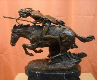 """Cheyenne"" Bronze Statue Frederic Remington 1901 Native American Indian Art Bronze"