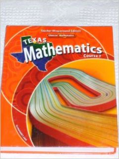 Texas Mathematics, Course 1 (Teacher Wraparound Edition): Ph.D. Roger Day: 9780078740459: Books