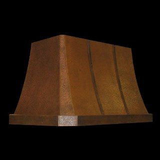 "Vent A Hood 42"""" Island Range Hood with 550 CFM T200 Dual Blower, Designer Series JDIH242C2BL Black: Home Improvement"