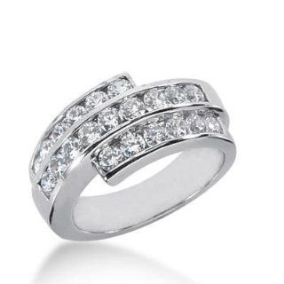 18K Gold Diamond Anniversary Wedding Ring 21 Round Brilliant Diamonds 1.68 ctw. 243WR108618K: Wedding Bands Wholesale: Jewelry