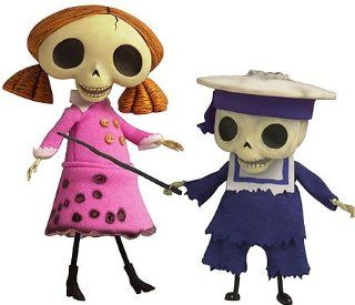 Corpse Bride Doll Collection Skeleton Girl and Small Child skeleton set Y 243: Toys & Games