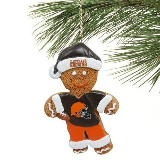Cleveland Browns Gingerbread Man Person Resin Christmas Ornament : Decorative Hanging Ornaments : Sports & Outdoors