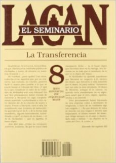 La transferencia 1960 1961 / The transfer (El Seminario De Jacques Lacan / the Seminar of Jacques Lacan) (Spanish Edition): Jacques Marie Emile Lacan: 9789501239768: Books
