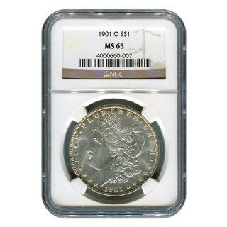 Certified Morgan Silver Dollar 1901 O MS65 NGC: Toys & Games