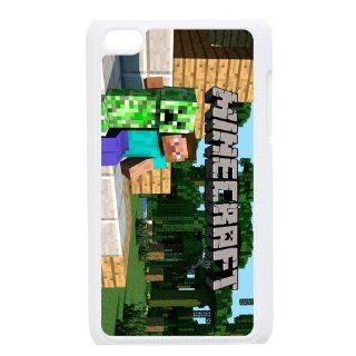 Apple iPod touch 4 4th hard Case Game Minecraft printed unique logo protector bumper DIY Personalized portrait customized cover otter box skin back shell creative gift ultra thin best Quality Limited Edition by iDesign Studio: Cell Phones & Accessories