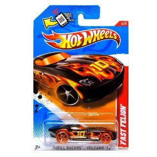 Hot Wheels   Fast Felion (Black W/Flames)   Thrill Racers, Volcano 12   4/5 ~ 204/247 [Scale 1:64]: Toys & Games