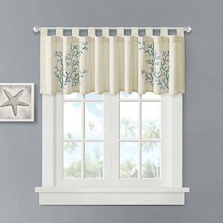 Buy Coral 100% Cotton Tab Top Valance from