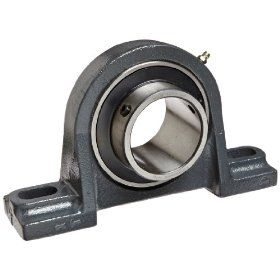 "Hub City PB251DRWX2 7/16 Pillow Block Mounted Bearing, Normal Duty, High Shaft Height, Relube, Setscrew Locking Collar, Wide Inner Race, Ductile Housing, 2 7/16"" Bore, 2.94"" Length Through Bore, 2.75"" Base To Height: Industrial & Scienti"