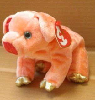 TY Zodiac Beanie Babies Pig Stuffed Animal Plush Toy   7 inches long: Toys & Games