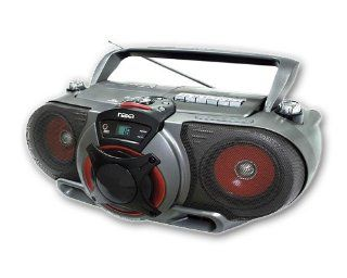 NAXA NX 249 Portable /CD AM/FM Stereo Radio Cassette Player/Recorder w/ Subwoofer and Remote Control Electronics