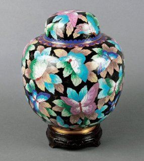 China Garden Butterfly Cloisonne Cremation Urn: Home & Kitchen