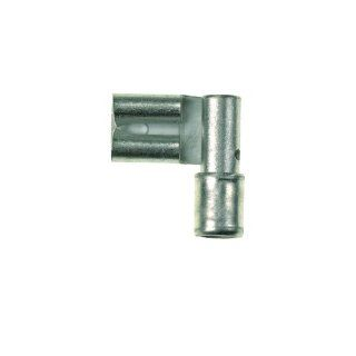 "Panduit DR10 250 L Right Angle Female Disconnect, Non Insulated, Metal Sleeve, 12   10 AWG Wire Range, 0.250 x 0.032"" Tab Size, 0.3"" Width, 0.12"" Height, 0.57"" Depth, 0.61"" Length (Pack of 50): Industrial & Scientific"