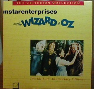 The Wizard Of Oz Starring Judy Garland, Frank Morgan, Ray Bolger, Jack Haley, Bert Lahr, Billie Burke, Margaret Hamilton Criterion Collection Laser Disc Set, Special 50th Anniversary Edition  Other Products
