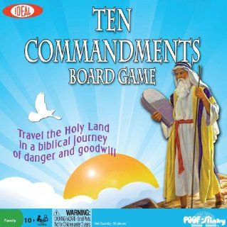 POOF Slinky 0C263 Ideal Ten Commandments Bible Trivia Board Game Toys & Games